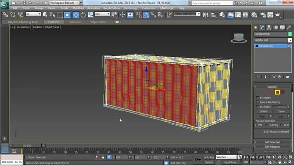 Using Push/Pull and Soft Selection to add dents: Game Prop Creation in 3ds Max