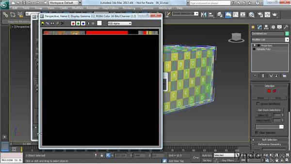 Baking the high-poly mesh onto the low-poly model to produce a normal map: Game Prop Creation in 3ds Max