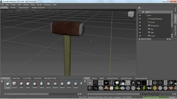 Importing from Mudbox: choosing the right resolution: Game Prop Creation in 3ds Max