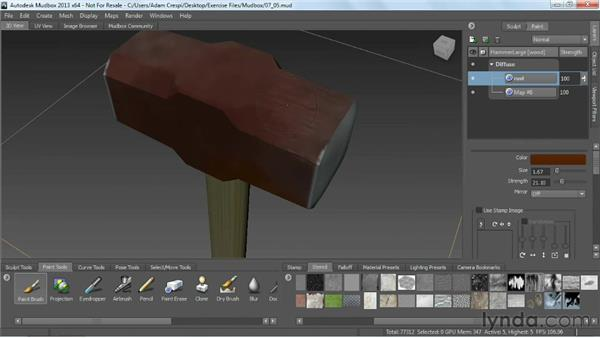 Painting in Mudbox: Game Prop Creation in 3ds Max