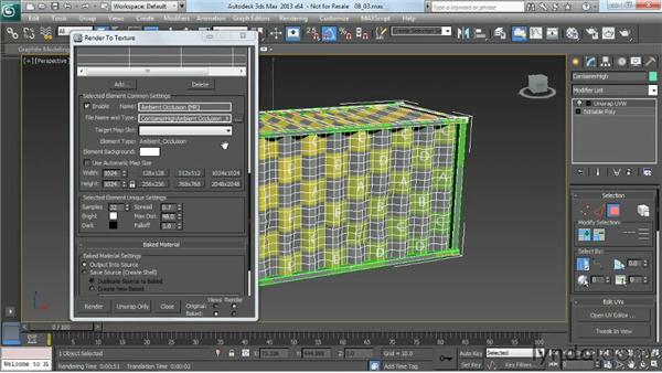 Using ambient occlusion as a foundation for rust and dirt: Game Prop Creation in 3ds Max