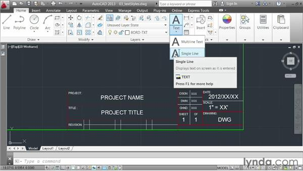 Controlling appearance using styles: AutoCAD 2013 Essentials: 04 Annotating a Drawing