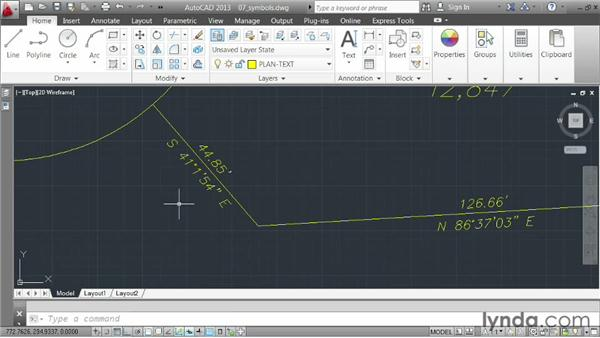 Incorporating symbols: AutoCAD 2013 Essentials: 04 Annotating a Drawing