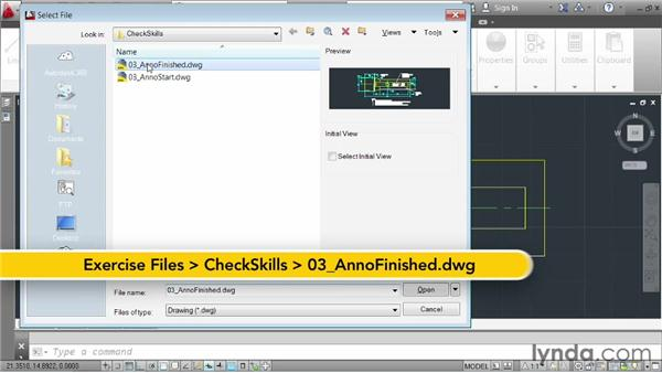 Challenge: annotating a drawing: AutoCAD 2013 Essentials: 04 Annotating a Drawing