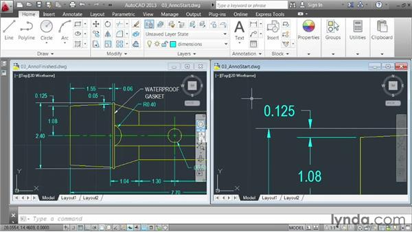 Demo: annotating a drawing: AutoCAD 2013 Essentials: 04 Annotating a Drawing