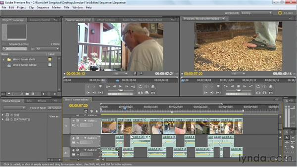 Editing matched action and sequences: Video Journalism Shooting Techniques