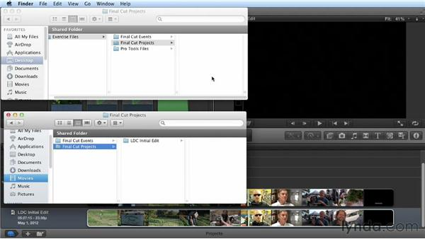 Using the exercise files: Audio Post Workflow with Final Cut Pro X v10.0.9 and Pro Tools