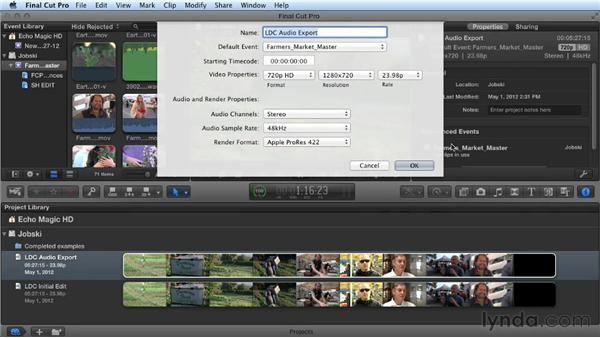 Preparing your FCP timeline for export: Audio Post Workflow with Final Cut Pro X v10.0.9 and Pro Tools