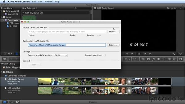 Completing the export: Audio Post Workflow with Final Cut Pro X v10.0.9 and Pro Tools
