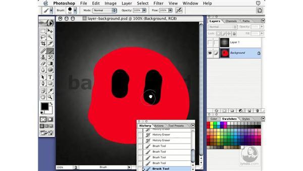 erase to history: Learning Photoshop 7