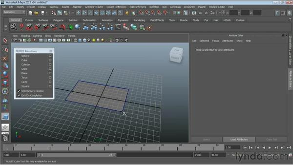 Creating NURBS primitives : Maya Essentials 3: NURBS Modeling Techniques