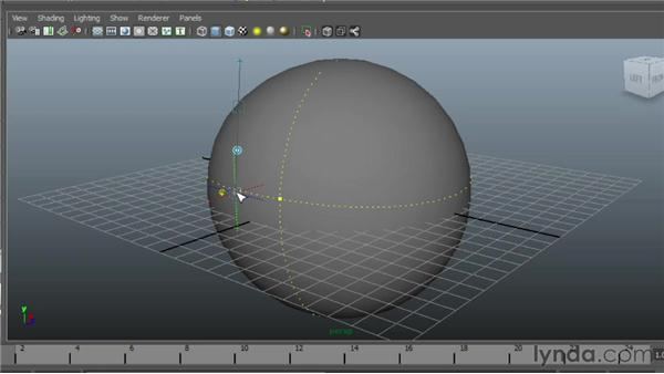 Using the Surface Editing tool: Maya Essentials 3: NURBS Modeling Techniques