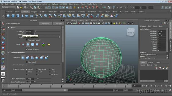 Sculpting surfaces : Maya Essentials 3: NURBS Modeling Techniques