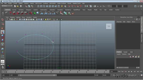 Using the NURBS curve tools : Maya Essentials 3: NURBS Modeling Techniques