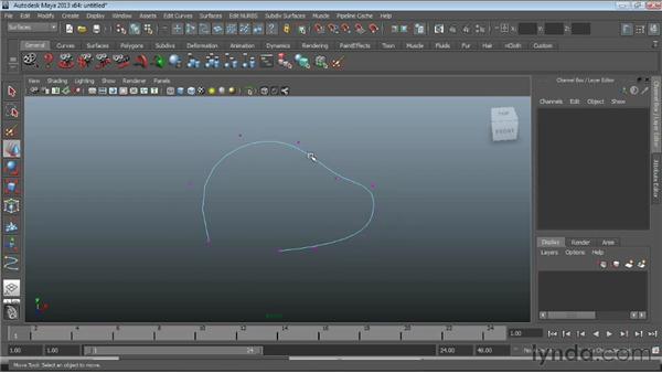 Manipulating NURBS curves : Maya Essentials 3: NURBS Modeling Techniques