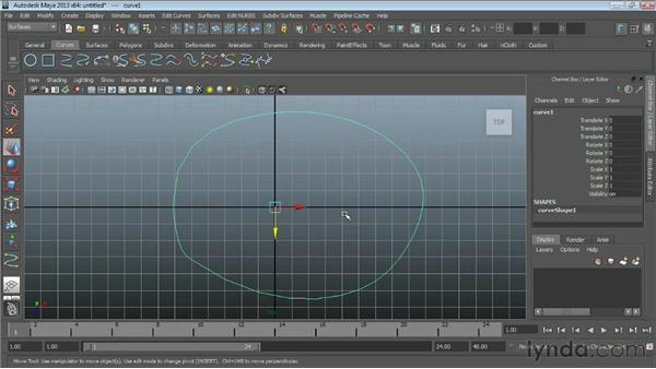 Opening and closing NURBS curves : Maya Essentials 3: NURBS Modeling Techniques