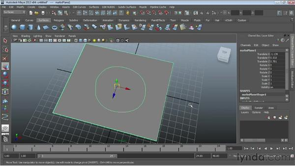 Creating curves on a surface : Maya Essentials 3: NURBS Modeling Techniques