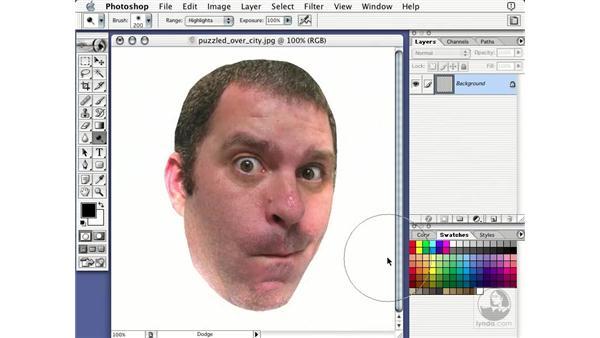 dodge tool: Learning Photoshop 7