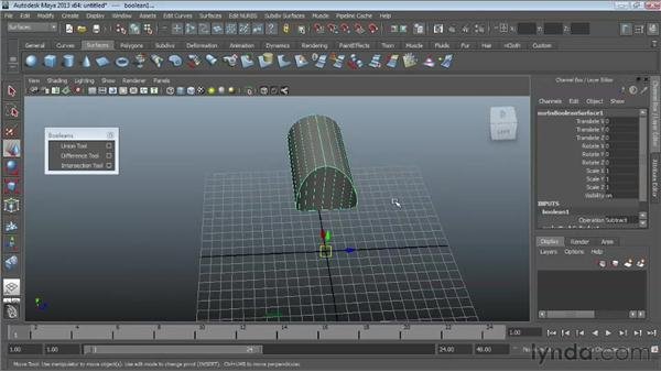 Working with NURBS Booleans: Maya Essentials 3: NURBS Modeling Techniques