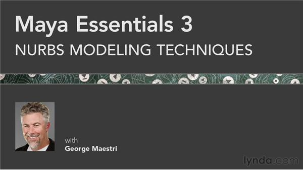 Goodbye: Maya Essentials 3: NURBS Modeling Techniques
