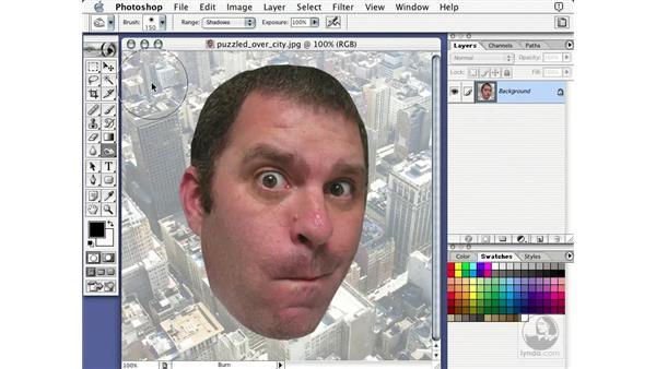 burn tool: Learning Photoshop 7