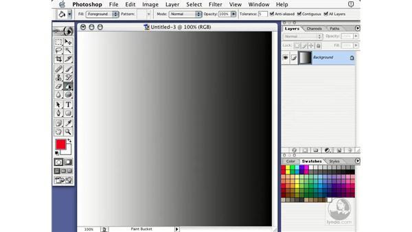 paint bucket: Learning Photoshop 7