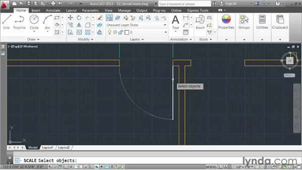 Creating blocks: AutoCAD 2013 Essentials: 05 Working with References
