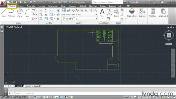 Creating a link to a DWG file: AutoCAD 2013 Essentials: 05 Working with References
