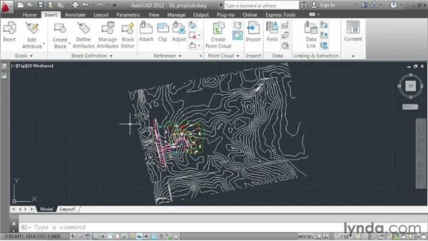 Clipping an external reference: AutoCAD 2013 Essentials: 05 Working with References
