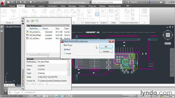 Binding references: AutoCAD 2013 Essentials: 05 Working with References