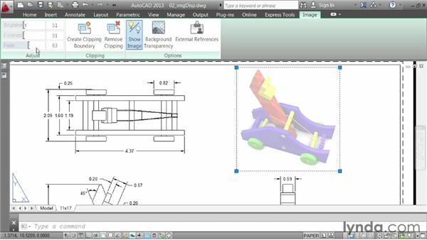 Editing the appearance of images: AutoCAD 2013 Essentials: 05 Working with References