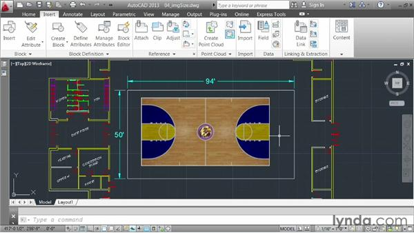 Sizing images to a measurable scale: AutoCAD 2013 Essentials: 05 Working with References