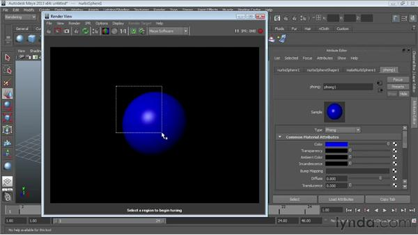 Using the Interactive Photorealistic Renderer (IPR): Maya Essentials 4: Creating Textures and Materials