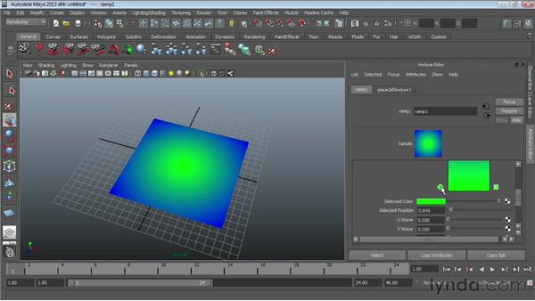 Working with ramp textures: Maya Essentials 4: Creating Textures and Materials