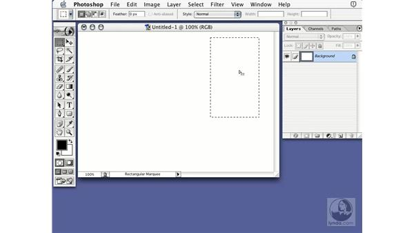 drawing selections: Learning Photoshop 7