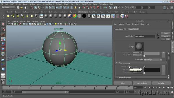 Creating transparency: Maya Essentials 4: Creating Textures and Materials
