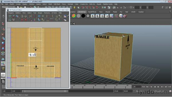 Fine-tuning maps in the UV Texture Editor: Maya Essentials 4: Creating Textures and Materials