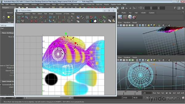 UV mapping a complex object: Maya Essentials 4: Creating Textures and Materials