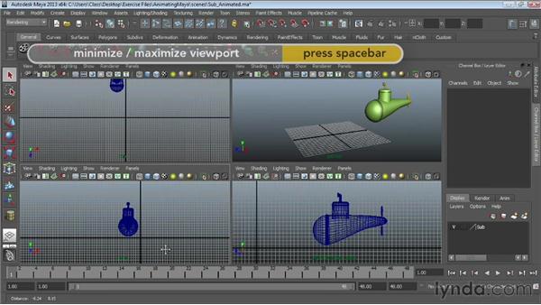 Understanding the animation interface: Maya Essentials 5: Animation Tools
