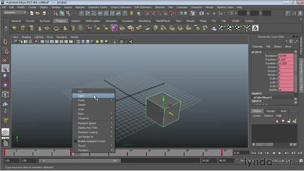 Copying and adjusting keys : Maya Essentials 5: Animation Tools
