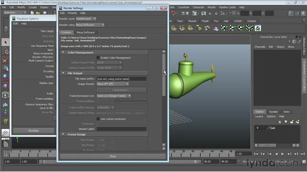 Animation playback using Playblast : Maya Essentials 5: Animation Tools
