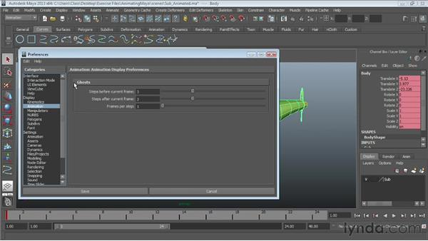 Ghosting objects: Maya Essentials 5: Animation Tools