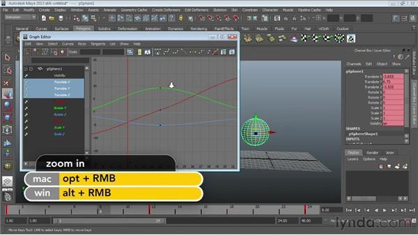 Modifying keys in the Graph Editor : Maya Essentials 5: Animation Tools