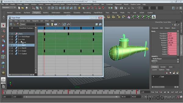 Modifying keys in the Dope Sheet : Maya Essentials 5: Animation Tools