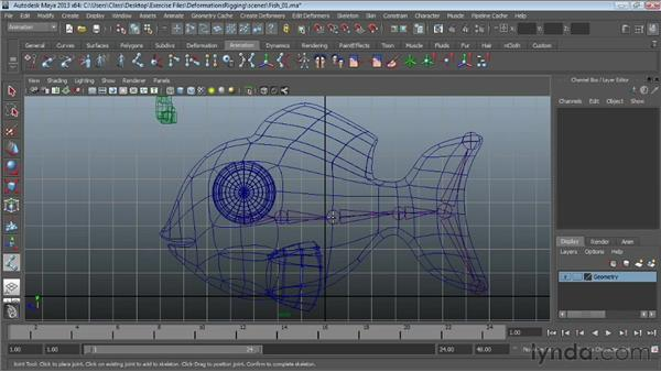 Fitting skeletons to a mesh: Maya Essentials 5: Animation Tools