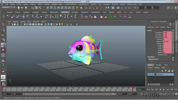 Animating skeletons: Maya Essentials 5: Animation Tools
