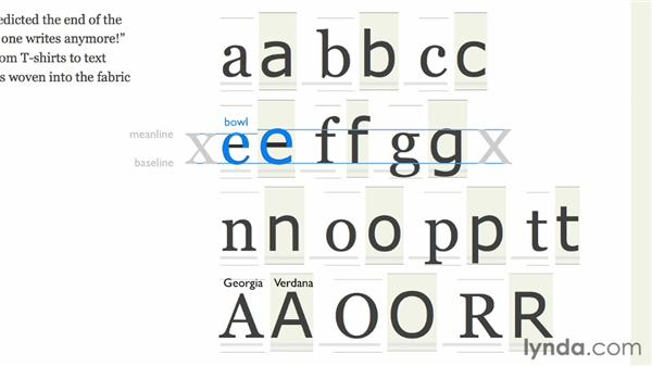 Recognizing the anatomy of letters: Choosing and Using Web Fonts
