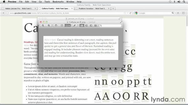 Choosing a Venetian font: Choosing and Using Web Fonts
