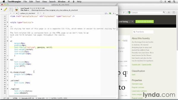 Applying Calluna to your web site: Choosing and Using Web Fonts