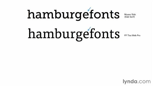 """Identifying """"Other"""" Serif fonts: Choosing and Using Web Fonts"""